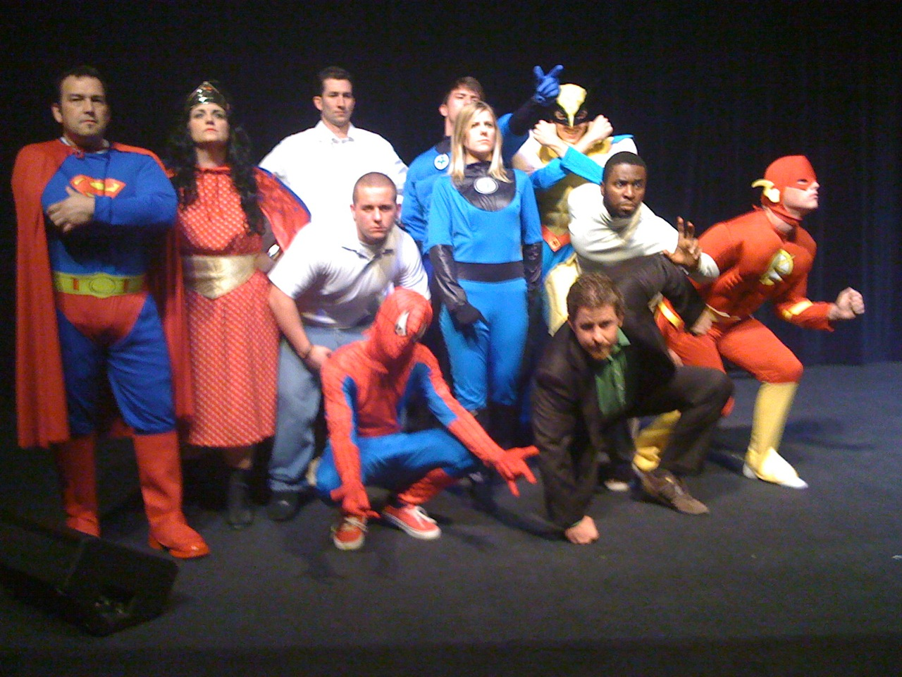 "Taken from ""SuperCon 2009."" This play depicted a super-hero conference gone wrong."